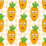 Modell för orange morot för tecknad film sömlös Arkivfoton