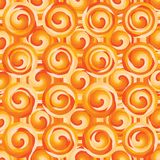 Modell för orange symmetri för lager för cirkelvirvelcirkel sömlös royaltyfri illustrationer