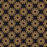 Modell för orientalisk vektor för Mandala sömlös Lyxig utsmyckad bakgrund stock illustrationer