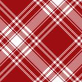 Modell för röd för kilt för Menzies tartan sömlös diagonal textur för tyg Arkivfoton
