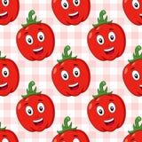 Modell för röd peppar för tecknad film sömlös Arkivbild