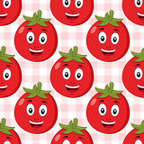 Modell för röd tomat för tecknad film sömlös Royaltyfri Bild