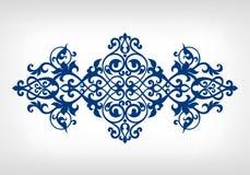 Modell för ram för kalligrafi för vektortappningprydnad Royaltyfri Foto