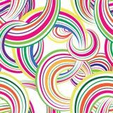 Modell för randig flerfärgad cirkel för abstrakt begrepp sömlös din illustration för bakgrundsbubbladesign cirklar Arkivbild