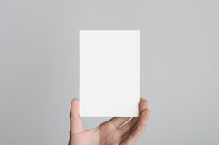 Modell för reklamblad A6/vykort-/inbjudan Arkivfoto