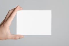Modell för reklamblad A6/vykort-/inbjudan Royaltyfria Bilder