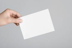 Modell för reklamblad A6/vykort-/inbjudan Arkivbild