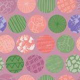 Modell för repetition för purpurfärgad klottercirkel sömlös abstrakt royaltyfri illustrationer