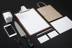 Modell för restaurangbrevhuvuddesign Arkivfoto
