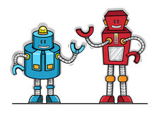Modell för robotvektorleksak Royaltyfri Illustrationer