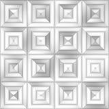Modell för sömlös lutning för gråskala för raster fyrkantig belägga med tegel geometrisk fyrkantig subtil Arkivfoton