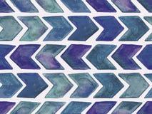 Modell för sömlös vattenfärg för vektor geometrisk royaltyfri illustrationer