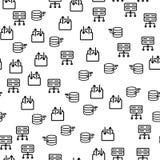 Modell för server för Data Center säkerhetsTech sömlös royaltyfri illustrationer