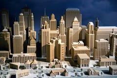 modell för skala 3d av en stad Arkivbild