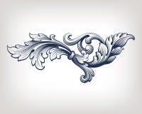 Modell för snirkel för ram för vektortappning barock royaltyfri illustrationer