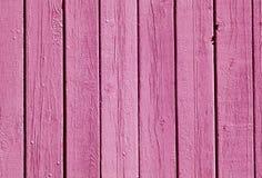Modell för staket för rosa färgfärg wood Royaltyfri Fotografi