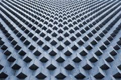 Modell för stenkubkvarter, geometrisk bakgrund för perspektiv Royaltyfri Foto