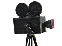 Modell för svart för tappningfilmkamera som isoleras på vit Fotografering för Bildbyråer