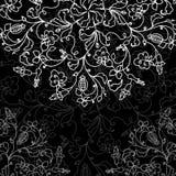 Modell för svart tavla för vektor blom- Royaltyfri Bild