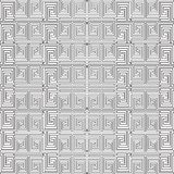 Modell för svartvit vektor för grektangentslingringar sömlös Geome Royaltyfri Illustrationer