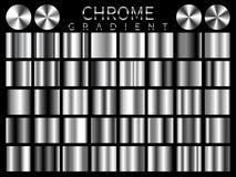 Modell för symbol för vektor för Chrome bakgrundstextur sömlös Realistisk, elegant, skinande, metallisk och kromlutningillustrati stock illustrationer