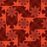 Modell för symmetri för blommabatikstil sömlös stock illustrationer