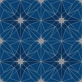 Modell för symmetri för Japan stjärnadesign sömlös stock illustrationer
