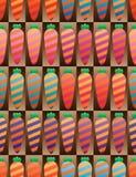 Modell för symmetri för morotkläderband sömlös vektor illustrationer