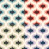 Modell för tapet för Retro mitt- århundrade70-tal geometrisk Sömlös bakgrund för skraj färgrik textur vektor illustrationer
