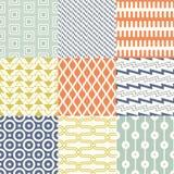 Modell för tapet för Retro mitt- århundrade70-tal geometrisk Sömlös bakgrund för skraj färgrik textur royaltyfri illustrationer