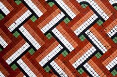 Modell för tegelplatta för mosaiskt golv Arkivbilder