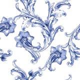 Modell för textur för vektorvattenfärgblått Royaltyfria Bilder