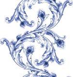 Modell för textur för vektorvattenfärgblått Fotografering för Bildbyråer
