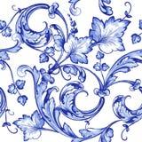 Modell för textur för vektorvattenfärgblått Arkivfoton