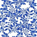 Modell för textur för vektorvattenfärgblått Royaltyfria Foton