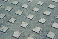 Modell för textur för metallplatta som används som bakgrund Fotografering för Bildbyråer