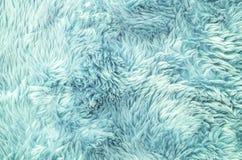 Modell för tyg för Closeupyttersidaabstrakt begrepp på ljuset - blå tygmatta på golvet av hustexturbakgrund Royaltyfri Fotografi