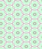 Modell för vektor för blå och grå sammansättningsrunda för repetitionprick geometrisk abstrakt Arkivfoton