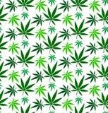 Modell för vektor för cannabismarijuanablad sömlös Royaltyfri Foto