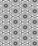 Modell för vektor för svart och grå sammansättningsrunda för repetitionprick geometrisk abstrakt arkivbilder