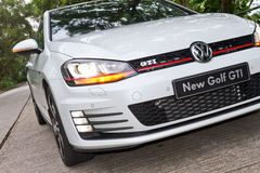 Modell för Volkswagen ny golf GTI 2013 Arkivbilder