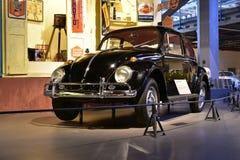 Modell för Volkswagen skalbagge 1963 i arvtransportmuseum i Gurgaon, Haryana Indien Fotografering för Bildbyråer