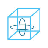 modell för vr 3d 360 grad teknologi Arkivfoton