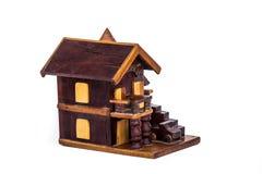 Modell för Wood hus Royaltyfria Foton