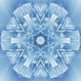 Modell f?r design f?r Cristal symmetri abstrakt geometrigarnering royaltyfri illustrationer