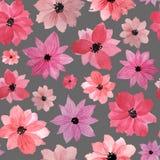 modell f?rfattare blommar vattenf?rg f?r I-m?lningsbild royaltyfri illustrationer