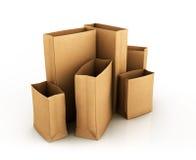 Modell-Folien-Lebensmittel-Taschen-Paket des Kaffees, Tee, Salz, Zucker, Pfeffer Lizenzfreie Stockfotos