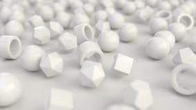 Modell från vita urinnevånare på vit yttersida fotografering för bildbyråer