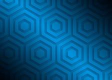 Modell för blått papper, abstrakt bakgrundsmall för websiten, baner, affärskort, inbjudan Royaltyfria Foton