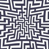 Modell för labyrint för geometri för abstrakt begrepp för vektordiagram purpurfärgad sömlös geometrisk labyrintbakgrund Royaltyfria Bilder